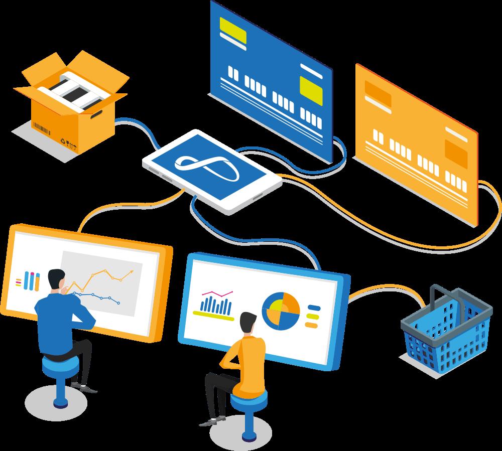 Plataforma E-commerce flexível com gestão unificada.
