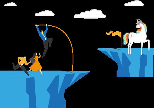 Solução dimensionada para startups. Do lançamento ao IPO